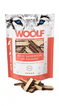 Woolf Snack - soft sandwich of salmon