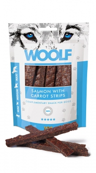 Woolf Snack - salmon with carrot strips