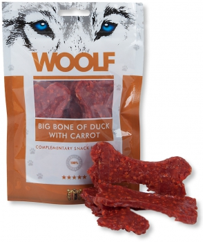 Woolf Snack - big bone of duck with carrrot