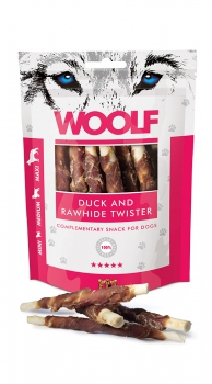 Woolf Snack - duck and rawhide twister