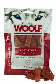 Woolf Snack - soft strips of duck