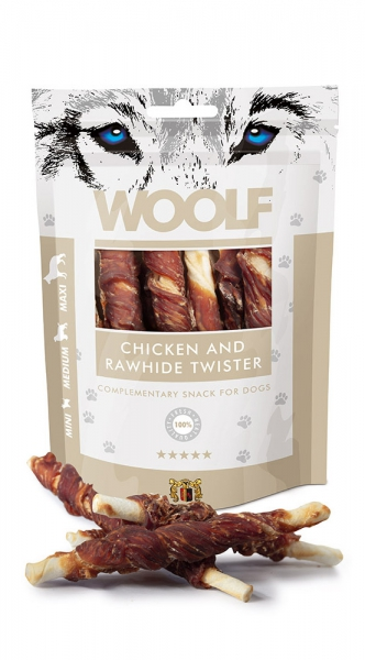 Woolf Snack - chicken and rawhide twister