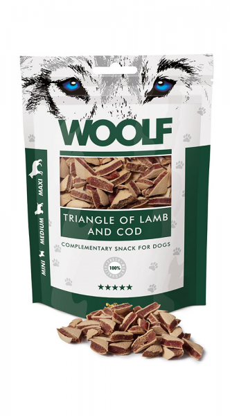 Woolf Snack - triangle of lamb and cod